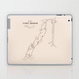 1853 Map of Lake George (sepia) Laptop & iPad Skin