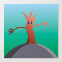 Living Tree On Hill Canvas Print