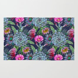 Exotic flower garden II Rug