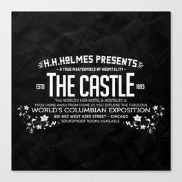H.H.Holmes Presents: The Castle Canvas Print