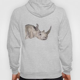 Watercolor Rhino Hoody