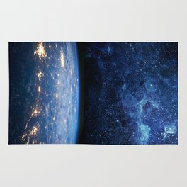 Earth and Galaxy Rug