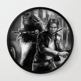 Scoundrels (black and white) Wall Clock