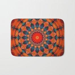 Tangerine Orange Mandala Design Bath Mat