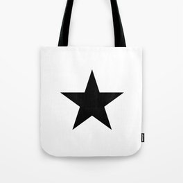 Black star t shirts cotton jersey clothing Tote Bag