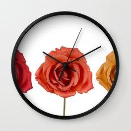 Three roses Wall Clock
