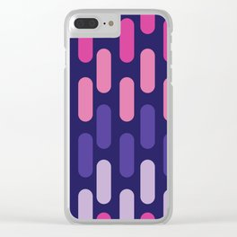 Colourful lines on navy background Clear iPhone Case