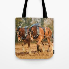 Work Horses Tote Bag