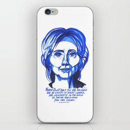 Hillary Rodham Clinton iPhone Skin
