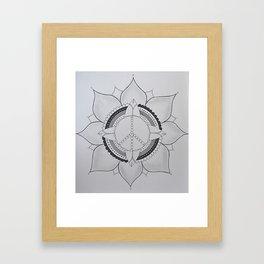 peace flower Framed Art Print