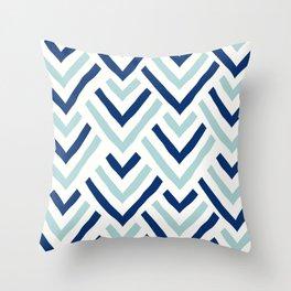Barbados blue Throw Pillow