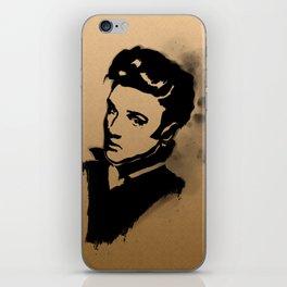 Elvis stencil portrait iPhone Skin