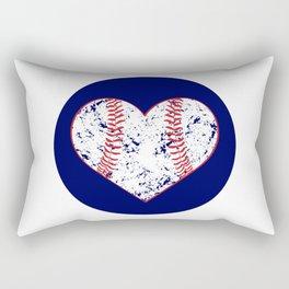 Baseball Heart - I Heart Baseball, Baseball Mom Gift Rectangular Pillow