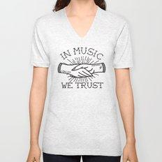 In Music We Trust Unisex V-Neck