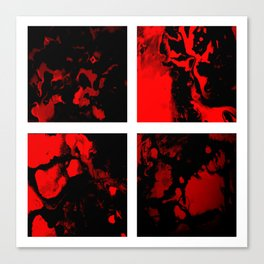 Victory - red and black abstract square art Canvas Print