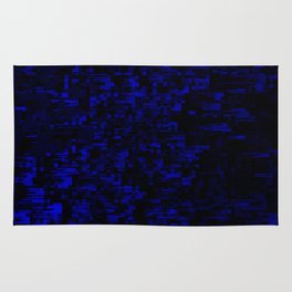 coming together darkly. blue Rug