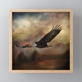 Eagle Flying Free Framed Mini Art Print