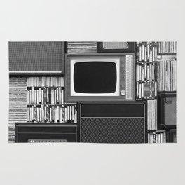 Everything Retro (Black and White) Rug
