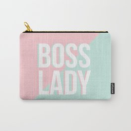Boss Lady - Pastel Pink and Aqua #bosslady #society6 #typography Carry-All Pouch