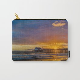 Lone Seagull at Sunset - Newport Pier Carry-All Pouch