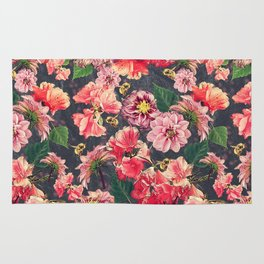 Vintage Flowers and Bees Rug