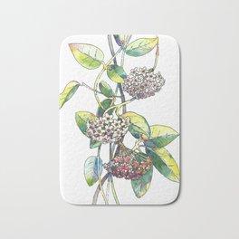 Light white-pink flower - HOYA Bath Mat