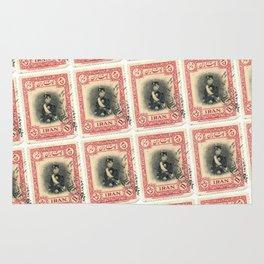 Old Iranian Stamp Rug
