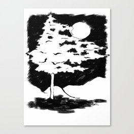 Dance with the moon. Canvas Print