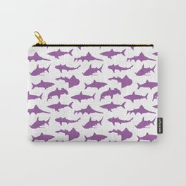 Violet Sharks Carry-All Pouch