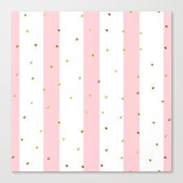Pink Stripes Canvas Print