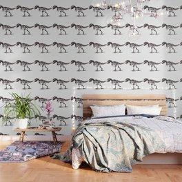 Dinosaur Skeleton in Ballpoint Wallpaper