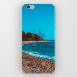 Vintage colored picture of bay at greece iPhone Skin