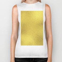 Simply Metallic in Yellow Gold Biker Tank