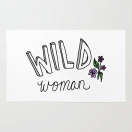 wild woman Rug