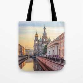 Church of the Savior on Blood, Saint Petersburg, Russia Tote Bag