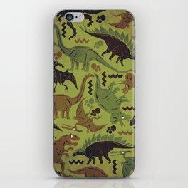 Camouflage Dinosaur Geometric Pattern iPhone Skin