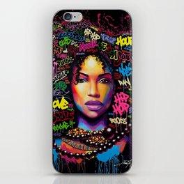 HAIR AFRO--STREET ART iPhone Skin