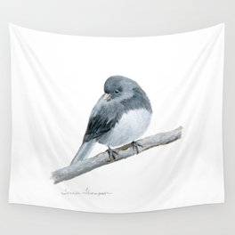 The Bashful Black-Eyed Junco by Teresa Thompson Wall Tapestry