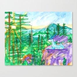Suicune Sunrise Canvas Print