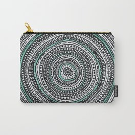 Mandala with a touch of pastel green Carry-All Pouch