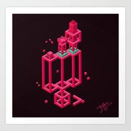 Hexworld Art Print