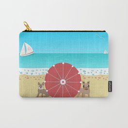 Holiday Romance - Behind the Red Umbrella Carry-All Pouch