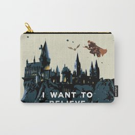 I Want To Believe - Hogwarts Carry-All Pouch
