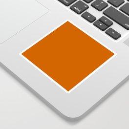 Burnt Orange - solid color Sticker
