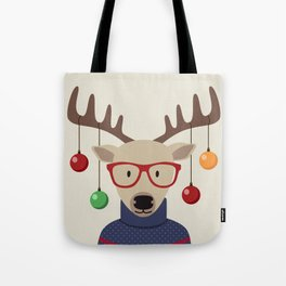 Deer Christmas Tote Bag
