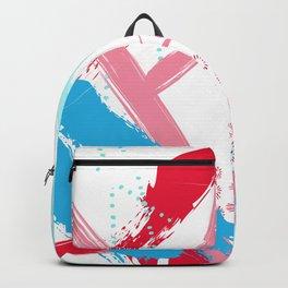 Expressive red Backpack