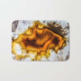 Honey Amber Agate frozen in time Bath Mat