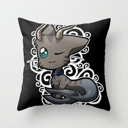 Zodiac Cats - Capricorn Throw Pillow