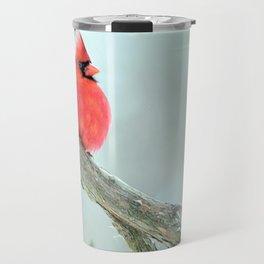 Elegant Cardinal Travel Mug
