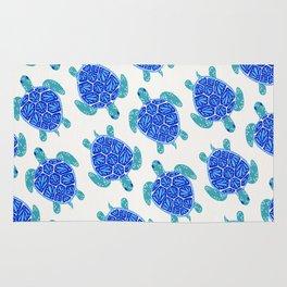 Sea Turtle – Blue Palette Rug